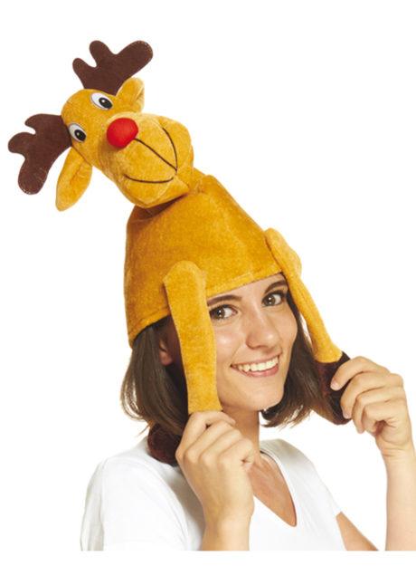 chapeau de renne, accessoire de renne, chapeaux animaux, chapeaux humour, chapeaux de noël, chapeaux d'animaux, Chapeau de Renne
