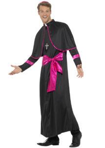 déguisement de cardinal pour homme, costume cardinal adulte, déguisement religion adulte, déguisement de cardinal, costume cardinal adulte, Déguisement de Cardinal, Noir et Rose Fuchsia