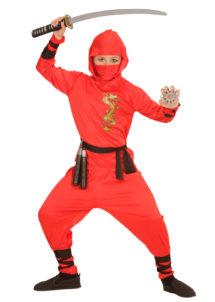 déguisement de ninja garçon, costume de ninja pour enfant, déguisement de ninja enfant, costume de ninja garçon, déguisement de ninja, Déguisement de Ninja, Rouge, Garçon