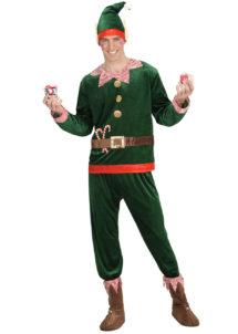 déguisement d'elfe pour adulte, costume d'elfe de noël, déguisement elfe de noël, déguisement elfe pour homme, Déguisement d'Elfe du Père Noël, Vert Foncé