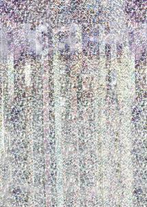 rideau de porte hologramme, rideau lamé, rideau à lamelles brillantes, décoration de porte brillante, rideau lamelles hologramme, Rideau de Porte, Lamelles Argent Hologramme