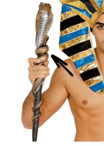 sceptre égyptien, accessoire déguisement pharaon, bâton égyptien serpent, sceptre egypte, sceptre de pharaon, accessoire égyptien, Sceptre Egyptien, Cobra sur Bâton