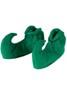 chaussures d'elfe, accessoire déguisement d'elfe, sur chaussures d'elfe, chaussures de lutin, sur-chaussures de lutins, couvre chaussures d'elfe vertes, Sur-chaussures d'Elfe ou de Lutin, Vert Foncé