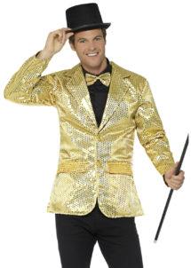 veste à paillettes, veste disco, veste disco à paillettes, déguisement disco à paillettes, veste paillettes dorées, Veste à Paillettes Dorées
