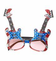 lunettes de déguisement, lunettes de fêtes, lunettes soirée déguisée, accessoires lunettes,lunettes fantaisie, lunettes pas chères, lunettes guitares électriques, lunettes guitares américaines, lunettes américaines, lunettes états unis Lunettes Guitares Drapeau Américain