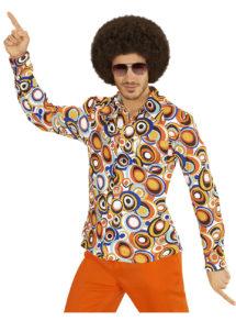 chemise disco homme, chemise disco beige, chemise disco, déguisement disco, Chemise Disco, Groovy 70, Bulles