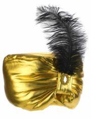 chapeaux oriental, coiffe orientale, chapeaux aladin, chapeaux orientals paris, coiffes orientales, chapeau doré paris, accessoire oriental, turban oriental Chapeau de Sultan Oriental, Turban Doré et Plume