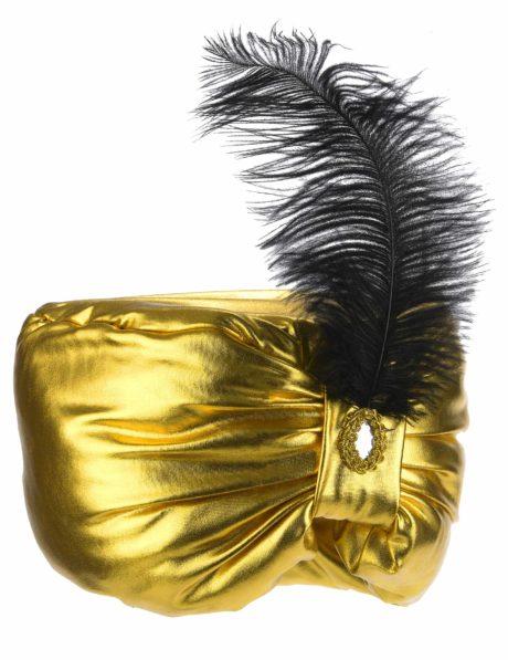 chapeaux oriental, coiffe orientale, chapeaux aladin, chapeaux orientals paris, coiffes orientales, chapeau doré paris, accessoire oriental, turban oriental, Chapeau de Sultan Oriental, Turban Doré et Plume