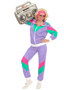 déguisement années 80 femme, déguisement survet disco, déguisement véronique et davina, déguisement années 80 femme, déguisement années jogging années 80, déguisement pour soirée années 80, Déguisement Années 80, Shell Suit Violet, Femme