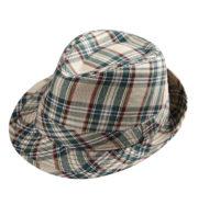 chapeau écossais, chapeau à carreaux déguisement, chapeau en tissu à carreaux, chapeau écossais déguisement, chapeau borsalino Chapeau Ecossais, Borsalino à Carreaux Beiges