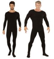 combinaison noire pour homme, justaucorps noir pour homme, déguisement combinaison noire, combinaison noire adulte, collant noir homme déguisement Combinaison Justaucorps Noir, pour Hommes