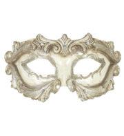 loup vénitien, masque vénitien homme, masque vénitien pas cher, carnaval de venise accessoire, masque carnaval de venise, loup vénitien baroque, masque homme vénitien, accessoire homme carnaval de venise Loup Baroque Vénitien, Ivoire Vieilli et Argent