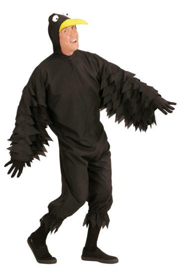 Complet Déguisement d'Oiseau Noir, Corbeau à Bec Jaune - Aux Feux de la  KE36