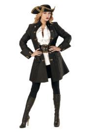 déguisement de pirate femme, veste de pirate femme déguisement, déguisement veste de pirate, veste de pirate déguisement, costume de pirate femme, déguisement de pirate pour femme, manteau de pirate femme Déguisement de Pirate, Longue Veste Noire et Or
