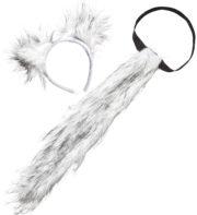 oreilles de loup, queue de loup, oreilles et queue de loup, déguisement de loup, accessoire déguisement de loup, fausses oreilles de loup, accessoire déguisements animaux Kit de Loup Garou, Fausse Fourrure