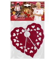 guirlande coeurs, décorations guirlandes coeurs, décorations saint valentin, coeurs pour saint valentin, suspension coeurs rouges, décorations coeurs, décorations coeurs Guirlande Coeurs Rouges en Dentelle de Papier
