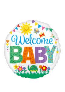 ballon hélium, ballon baby shower, ballon naissance,, Ballon Baby Shower, Welcome Baby, en Aluminium