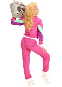 déguisement années 80 femme, déguisement survet disco, déguisement véronique et davina, déguisement années 80 femme, déguisement années jogging années 80, déguisement pour soirée années 80, Déguisement Années 80, Shell Suit Rose, Femme