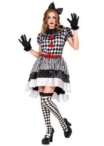 déguisement arlequin femme, costume d'arlequin femme, déguisement pierrot arlequin, déguisement carnaval femme, costume carnaval femme, Déguisement d'Arlequin, Robe Asymétrique