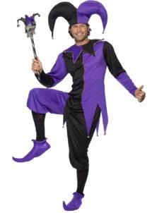 déguisement arlequin homme, déguisement fou du roi, déguisement bouffon, costume arlequin homme, déguisement carnaval homme, Déguisement Arlequin, Bouffon ou Fou du Roi, Noir et Violet
