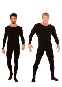 , Combinaison Justaucorps Noir, pour Hommes