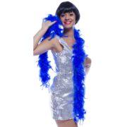 boa, boa de déguisement, boa années 30, boas charleston, boa années 20, boa années folles, boas bleus, boa bleu, boa en plumes bleues Boa en Plumes Bleu Roi