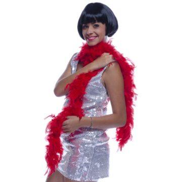 boa, boa de déguisement, boa années 30, boas charleston, boa années 20, boa années folles, boas rouges, boa rouge, boa en plumes rouges Boa en Plumes Rouges