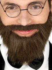 fausse barbe, fausses moustaches, postiche, barbe postiche, fausse barbe de déguisement, postiches barbes Barbe Châtain Courte, avec Moustache