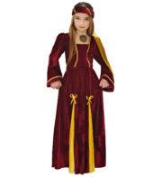 déguisement médiéval fille, déguisement de reine médiévale pour enfant, déguisement de princesse fille, costume de princesse fille, déguisement robe reine médiévale enfant, déguisement mardi gras fille Déguisement de Princesse Médiévale, Pourpre, Fille