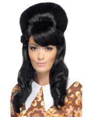 perruque années 60, perruque noire pour femme, perruque cheveux noirs, perruque années 60, perruque années 70, perruque femme paris, perruque pas cher femme Perruque Années 60, Brigitte, Noire