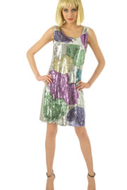 déguisement disco, robe disco, robe à paillettes, déguisement paillettes pour femme, robe disco à paillettes pour femme, déguisement disco Déguisement Disco Paillettes, Robe Gros Coeurs