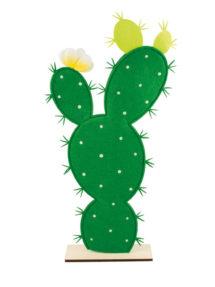 décoration mexicaine, faux cactus, décoration cactus, cactus en feutrine, décor mexicain, Décoration Cactus Mexicain, Bois et Feutrine