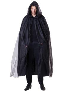 cape noire pour homme, cape noire à capuche pour homme, cape noire capuche luxe, cape noire venise, cape noire carnaval de venise, Cape Noire à Capuche, Démon Halloween Luxe