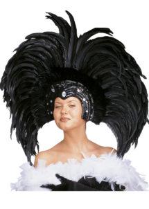 coiffe brésilienne, accessoire carnaval de rio, coiffe de carnaval, coiffure brésilienne, accessoire déguisement, déguisement brésilienne, coiffe brésilienne à plumes, Coiffe Brésilienne, Copacabana, Plumes Noires