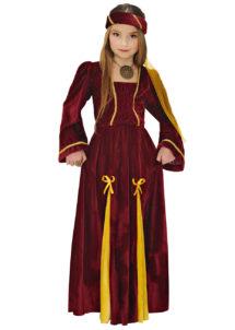 déguisement de princesse fille, déguisement médiéval enfant, déguisement médiéval fille, costume de princesse médiévale enfant, déguisement fille, Déguisement de Princesse Médiévale, Pourpre, Fille