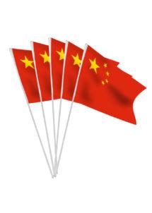drapeau chinois, drapeau de table chine, drapeau de table chinois, drapeau décoration chine, drapeau décoration chinoise, drapeau chinois à agiter, petit drapeau chinois, Drapeau de la Chine x 10, Drapeaux de Table