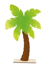faux palmier, palmier décoration Hawaï, palmier décorations tropicales, faux palmier en feutrine, Décoration Palmier Tropical, Bois et Feutrine