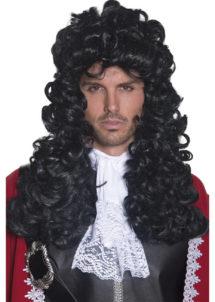 perruque pour homme cheveux longs, perruque molière, perruque pirate homme, perruque marquis, perruque noble cheveux noirs, perruque pour homme pas cher, perruque pour homme paris, perruque de capitaine pirate, Perruque de Pirate, ou de Molière, Noire