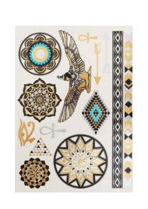 faux tatouages, faux tatouages dorés, tatouages éphémères, tatouages cléopatre, tatouages égyptiens, Tatouages Temporaires, Egypte Ancienne