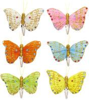 barrettes papillons, accessoires déguisement de fée, pinces décorées, papillons pour cheveux, barrettes papillons Pinces à Cheveux Petits Papillons à Paillettes