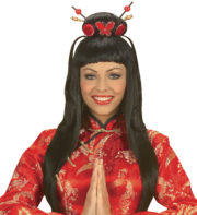 perruque de chinoise, perruque china girl, nouvel an chinois, accessoire déguisement chinoise, perruque de geisha, perruque de japonaise, perruque chinoise, perruque noire Perruque China Girl Sexy, Noire