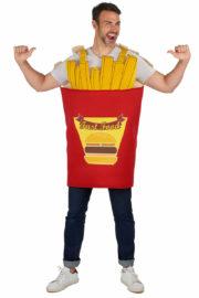 déguisement cornet de frites, déguisement de frites, déguisement humour, déguisement nourriture humour, costume de frites, déguisements evg Déguisement de Cornet de Frites
