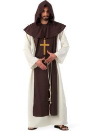 déguisement de moine, costume de moine, déguisement religieux homme, costume religieux homme, déguisement de moine adulte Déguisement de Moine Bénédictin, Prémium