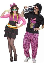 déguisement couple, déguisement duo, déguisement couple disco, déguisement couple années 80, déguisements années 80 Déguisement Couple Années 80 Fluo