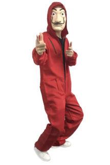 combinaison casa de papel, combinaison rouge casa de papel, masque casa de papel, masque casa del papel, masque dali netflix, combinaison série casa de papel, combinaison rouge série casa del papel, Combinaison Rouge, La Casa de Papel, Luxe