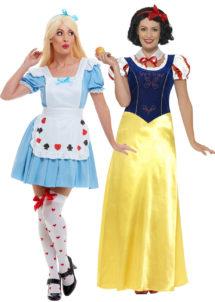 déguisement couple Alice et blanche neige, déguisement contes de fée, Déguisements Couple, Alice et Blanche Neige