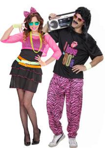 déguisement couple, déguisement duo, déguisement couple disco, déguisement couple années 80, déguisements années 80, Déguisements Couple, Années 80 Fluo