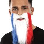 coupe du monde 2018, barbe équipe de france, accessoire de supporter, lunettes france, accessoires équipe de france, tricolore, barbe drapeau france Barbe de Supporter, France