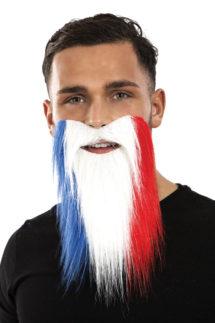 coupe du monde 2018, barbe équipe de france, accessoire de supporter, lunettes france, accessoires équipe de france, tricolore, barbe drapeau france, Barbe de Supporter, France