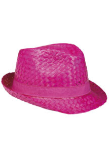 chapeau hawaï, chapeau hawaïen, accessoires hawaï, accessoires pour soirée hawaïenne, chapeaux de paille, accessoires chapeaux, Chapeau Hawaï, Aruba, Paille Rose Fuchsia